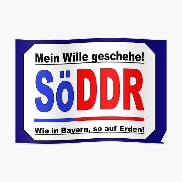 SöDDR | Söder | GDR | protest Poster