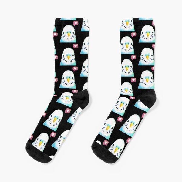 Budgerigar Blue Bird Socks