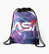 NASA Retro Nebula Logo Drawstring Bag
