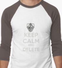 Keep Calm And Delete  Men's Baseball ¾ T-Shirt