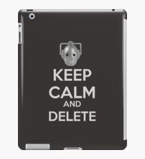 Keep Calm And Delete  iPad Case/Skin