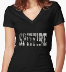 Spitfire Women's Fitted V-Neck T-Shirt