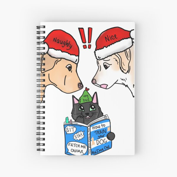 How to Train Your Dog at Christmas Spiral Notebook