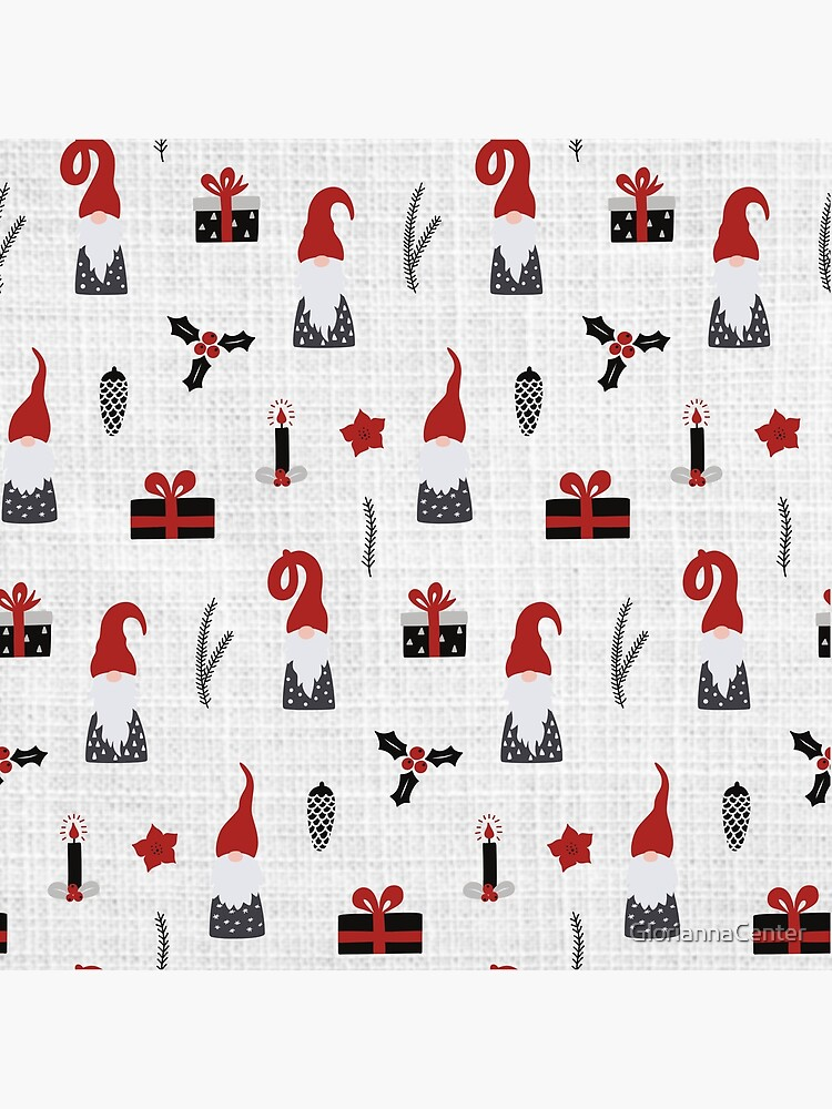 Scandinavian Christmas pattern on linen by GloriannaCenter