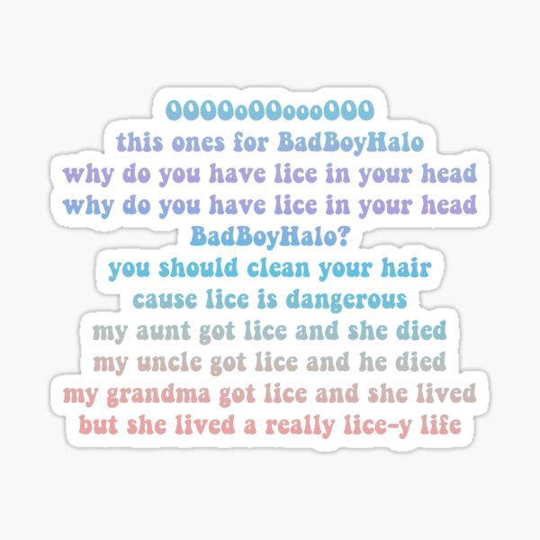QuackityHQ - BadBoyHalo Lice Song Sticker