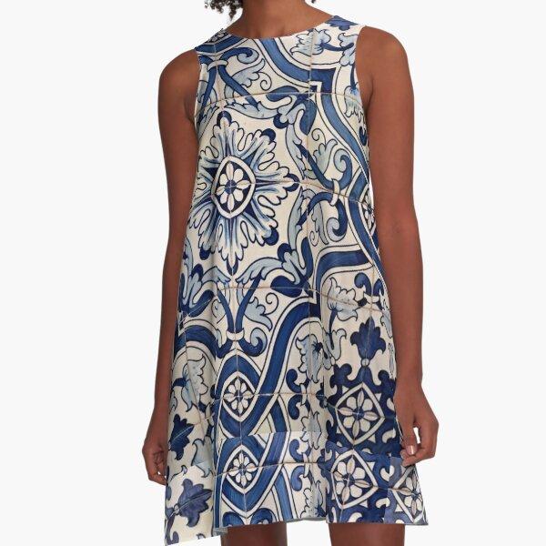 Beautiful Blue Portuguese tile - Azulejo A-Line Dress