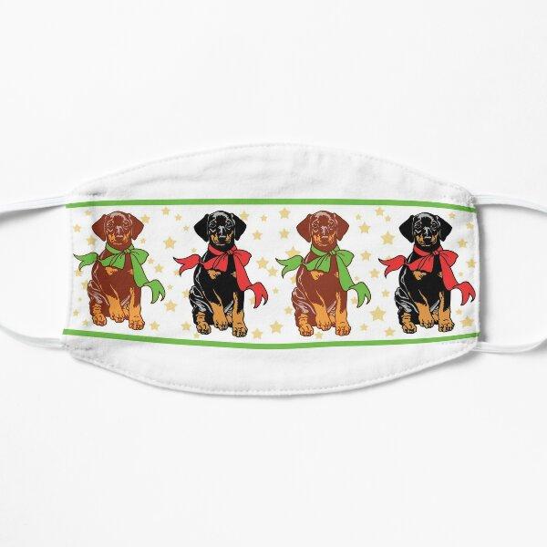 Holiday Puppies Flat Mask