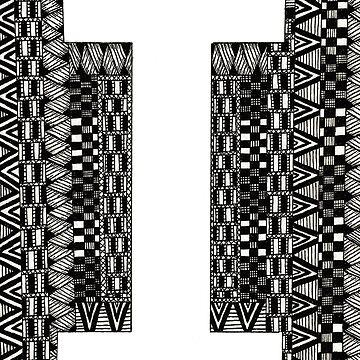 Letter I and Patterns by Alabaster-Ink