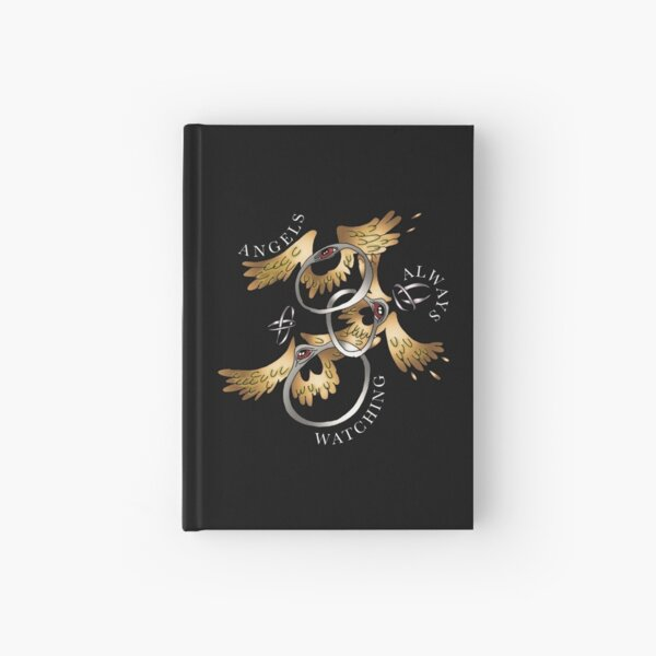 """Angels Always Watching"" by Motel Gemini Hardcover Journal"