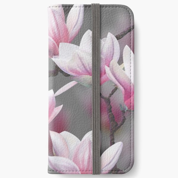 Pink Magnolia Blossom iPhone Wallet