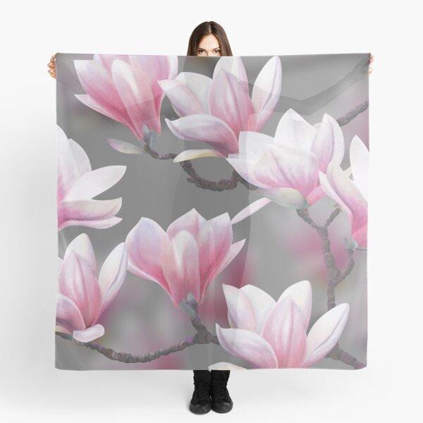 Pink Magnolia Blossom Scarf
