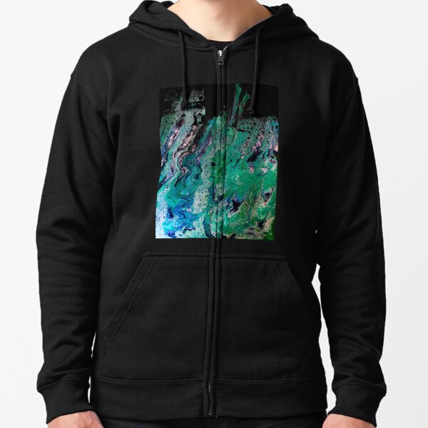 Abstract #5 Zipped Hoodie
