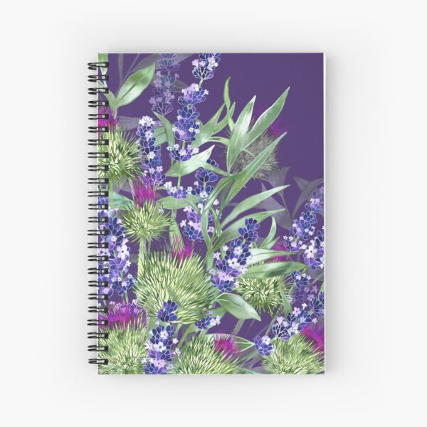 Thistles & Lavender Spiral Notebook