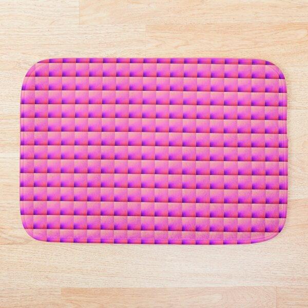 Pink purple square, Pink purple mask, Pink purple pillow  Bath Mat
