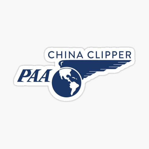 Pan Am China Clipper Logo Sticker