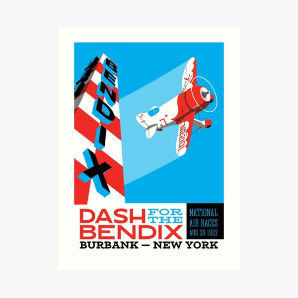 Vintage Bendix Trophy Race Art Print
