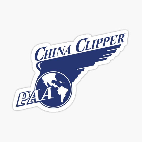 Pan Am PAA China Clipper Sticker