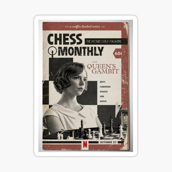 The Queen's Gambit Vintage Poster Sticker