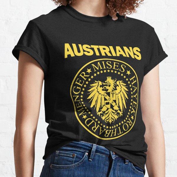 Austrians - Mises, Hayek, Menger and Rothbard - School of Economics yellow Classic T-Shirt