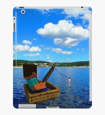 Minecraft: Fishing in reallife iPad Case/Skin