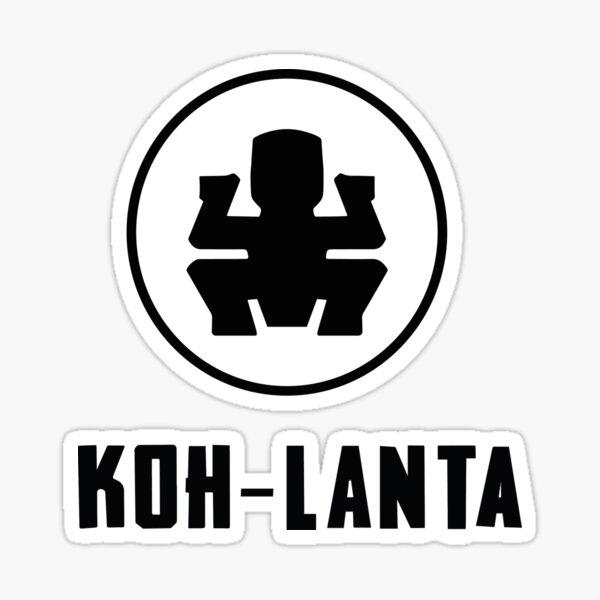 Koh-lanta noir Sticker