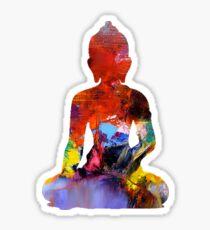 Tiny Painted Buddha Sticker
