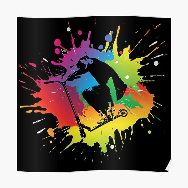 Cadeau de trottinette acrobatique Poster
