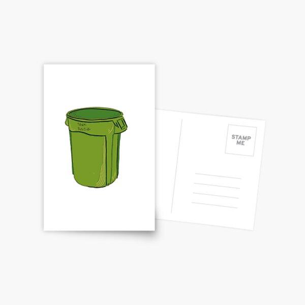 Think Positive Garbage Postcard
