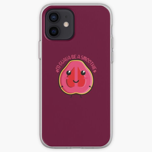 I'd guava be a smoothie Kawaii Guava iPhone Soft Case