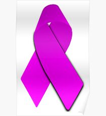 Pink Breast Cancer Ribbon Poster