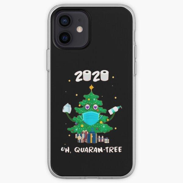 Santa With Face Mask Christmas 2020 Family Pajamas Xmas Gift iPhone Soft Case