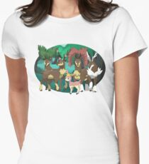 Sawsbuck forest- Oval Women's Fitted T-Shirt