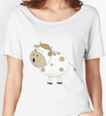 Cute Moo Cow Cartoon Animal Women's Relaxed Fit T-Shirt