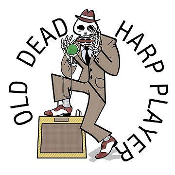 Old Dead Harp Player by brandonrankin