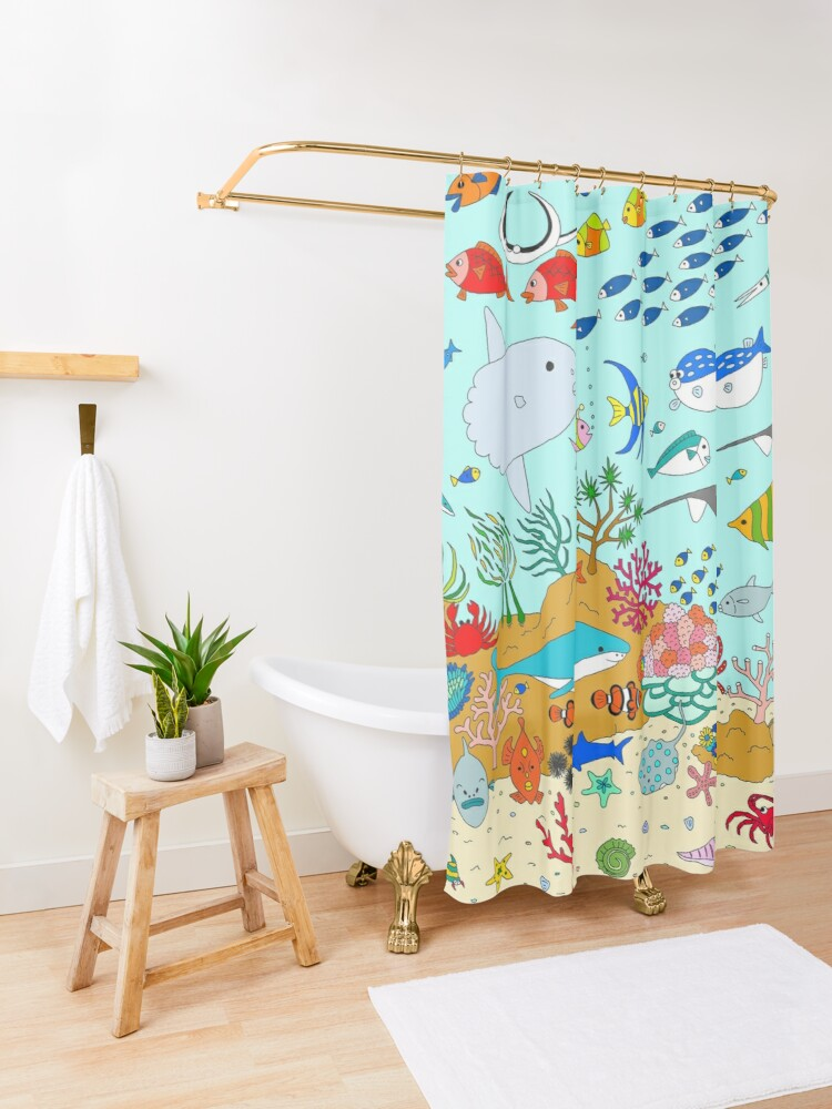 Alternate view of Oceanarium Shower Curtain