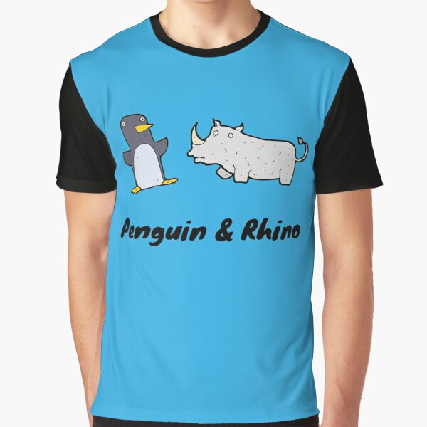 Penguin and Rhino Graphic T-Shirt