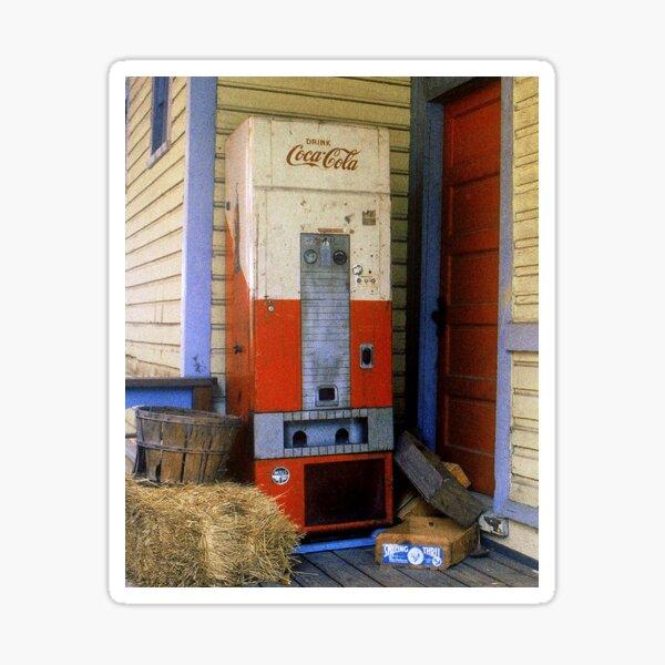 Old Coke machine Sticker