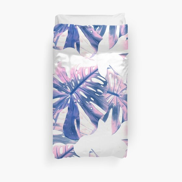 # Pinky purple plant leaves Duvet Cover