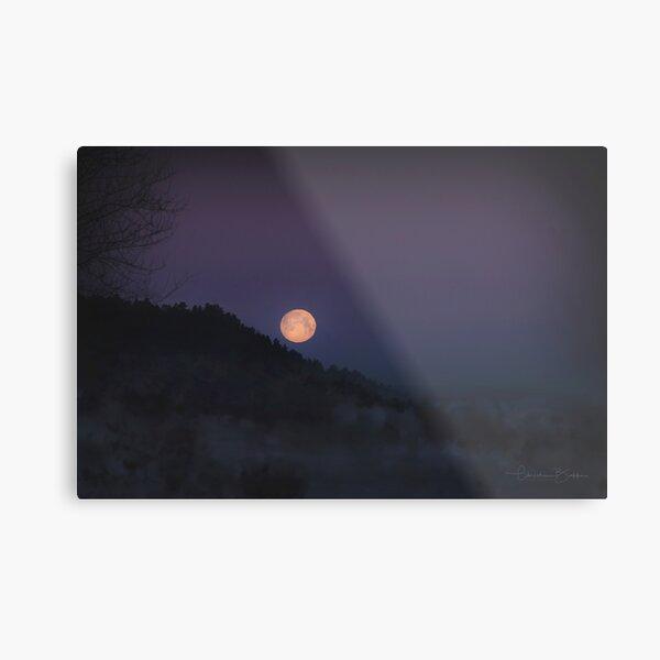 Montana Full Moon Metal Print