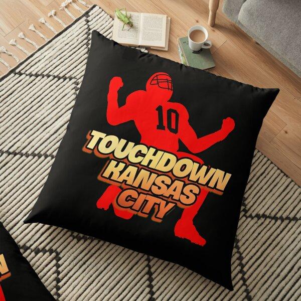 Red Friday Touchdown Kansas City Football Lover Chiefs Fan  Floor Pillow