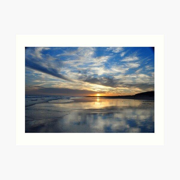 Redhead Beach Sunset Art Print