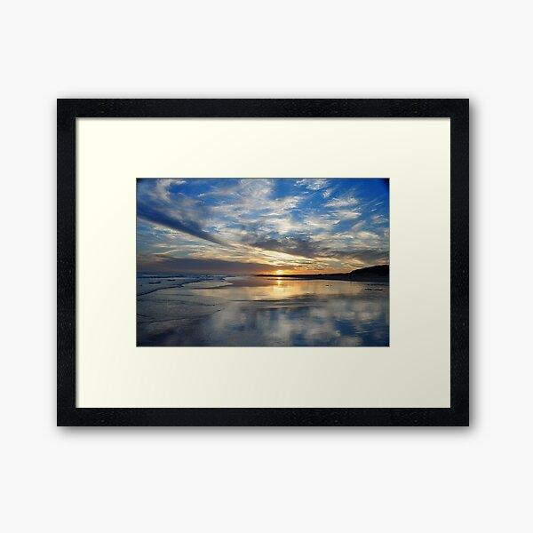 Redhead Beach Sunset Framed Art Print