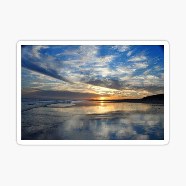 Redhead Beach Sunset Sticker