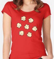 Popcorn Pattern Women's Fitted Scoop T-Shirt