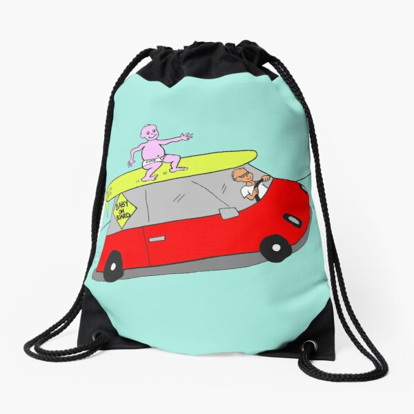 Baby On Board Drawstring Bag
