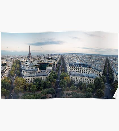 Paris from the Arc Poster