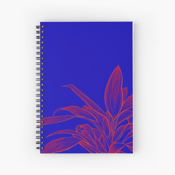 Abstract Plant Art   Blue Plant   Red Plant Spiral Notebook