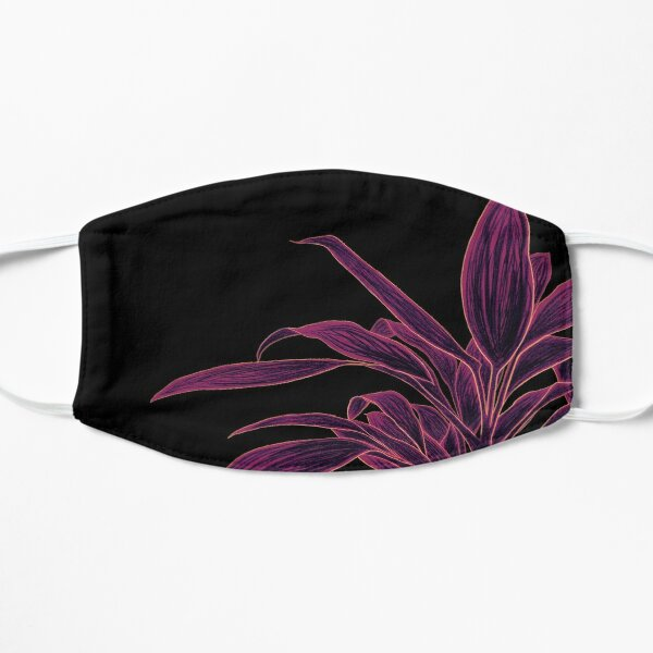 Abstract Plant Art   Pink Plant   Purple Plant Mask