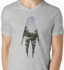 Spirit Silhouette  Men's V-Neck T-Shirt