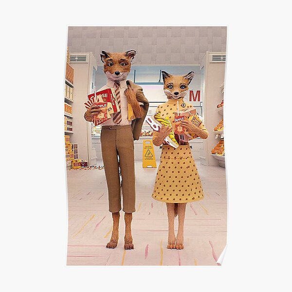 fantastic mr fox and wife funny Poster